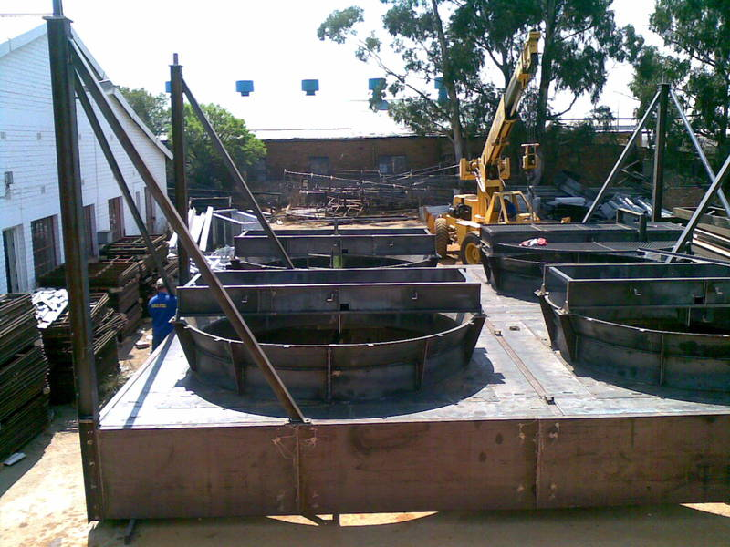 Trial Assembly of plenum structure prior to Galvanizing