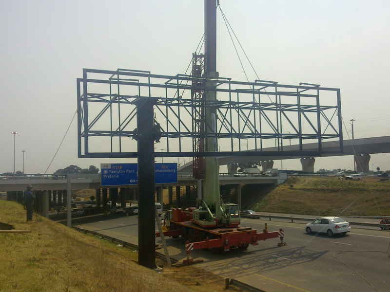 Erection of signboard for Umnotho Outdoor at O R Tambo Airport