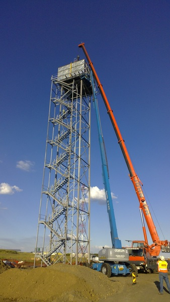 Final Assembly on 35m Water Tower at Impumelo Mine Secunda