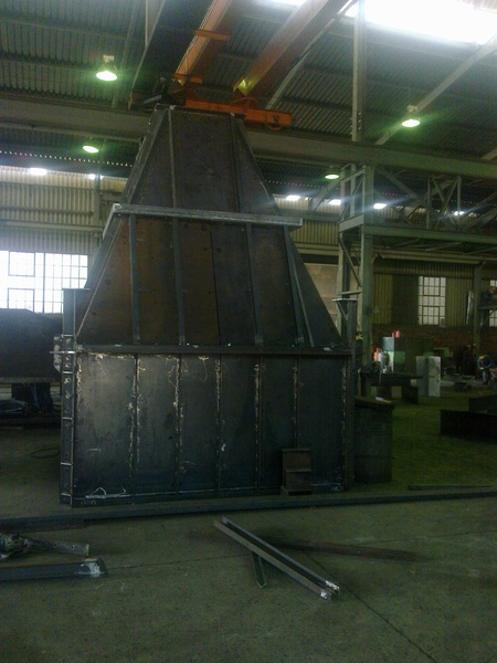 Fabrication of 4m Feed Schute