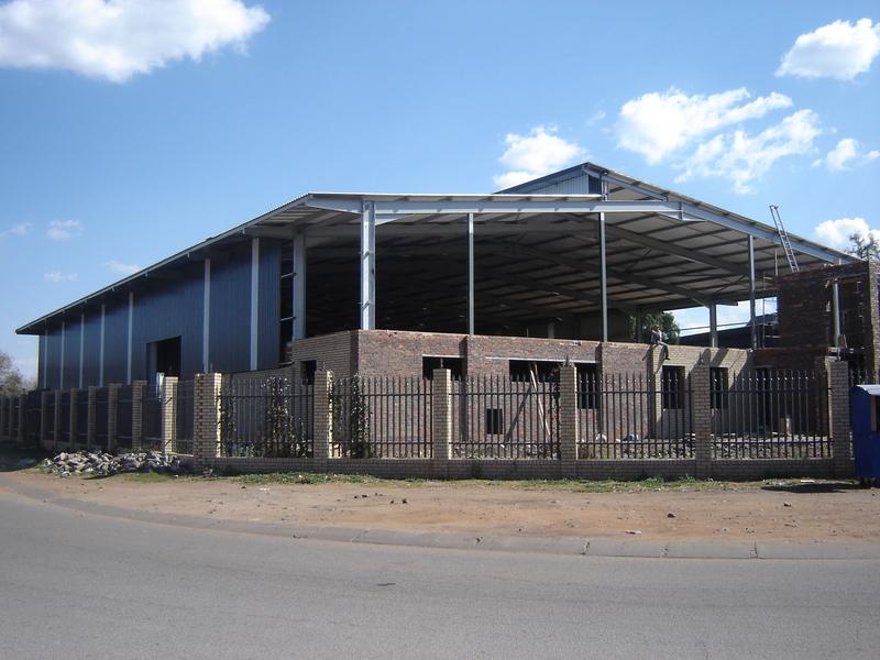 Erection of structure in Driehoek Germiston for Pan African Properties