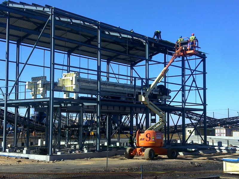Erection of Filter building at Hakhano Colliery